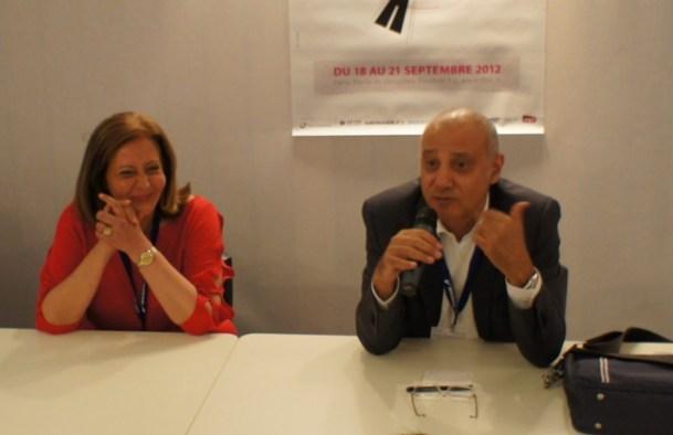Nahed Rizk directrice de l'office de tourisme d'Egypte et Amr El Azabi directeur de l'Egypt Tourism Authority Photo CE
