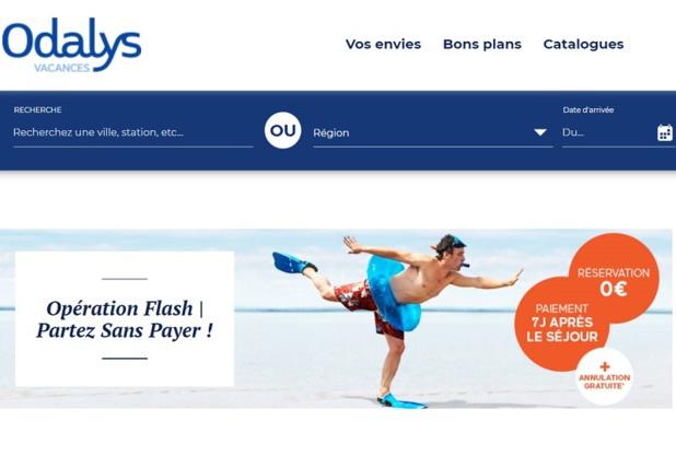 Odalys permet de payer 7 jours après le départ, pour soutenir les vacacnes d'été - Capture écran site Odalys