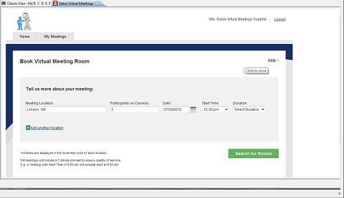 Sabre Virtual Meetings a été inauguré le 19 septembre 2012 - Capture d'écran