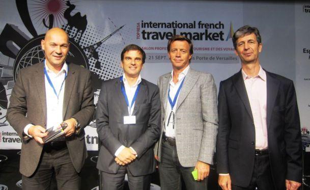 Jean-Luc Bernard le président de Netwave, Guillaume Weill directeur général Crmmetrix, Frédéric Vanhoutte, fondateur d'Eventiz et Rémi Bain-Thouverez, rédacteur en chef de I-Tourisme, ont donné quelques conseils pour mieux vendre avec internet-DR