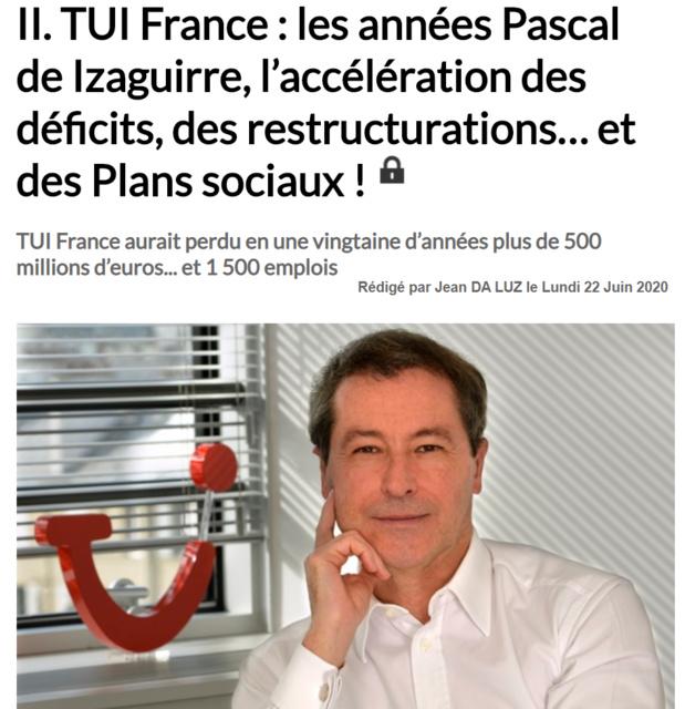 TUI France : des départs en fanfare et... un gâchis kolossal !