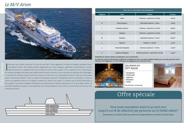 """La croisière """"sur les traces de Saint Paul"""" de Terre Entière aurait dû quitter Nice le 30 septembre 2012 - Capture d'écran"""