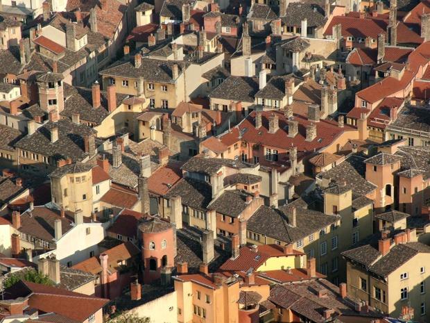 Le Vieux Lyon. La citation au Patrimoine de l'UNESCO inclut les quartiers du Vieux Lyon, la colline de Fourvière, celle de la Croix-Rousse et la Presqu''île - DR