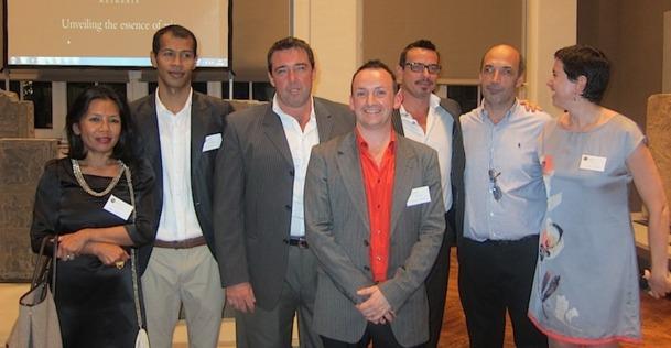Une partie de l'équipe de Secret Retreats lors du lancement du site à Paris le 24 septembre 2012, dans le cadre du prestigieux musée musée Cernuschi - DR