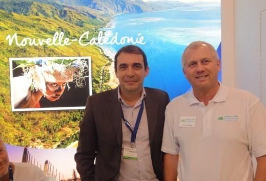 Dominique Michaud, DG de Deva, et Jean-Michel Foutrein, directeur de l'OT Nouvelle Calédonie Sud - DR : A.P.