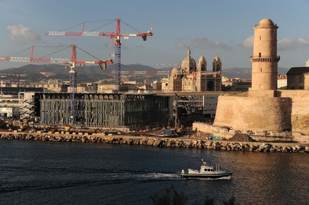 A l'instar du MUCEM, tous les chantiers ne sont pas encore terminés à Marseille pour 2013 mais les acteurs du tourisme de la région sont confiants et comptent sur cette année pour diversifier leurs clientèles - Photo : Lisa Ricciotti_6477