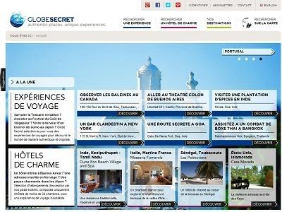 GlobeSecret.com est le dernier né des sites de e-tourisme - Capture d'écran