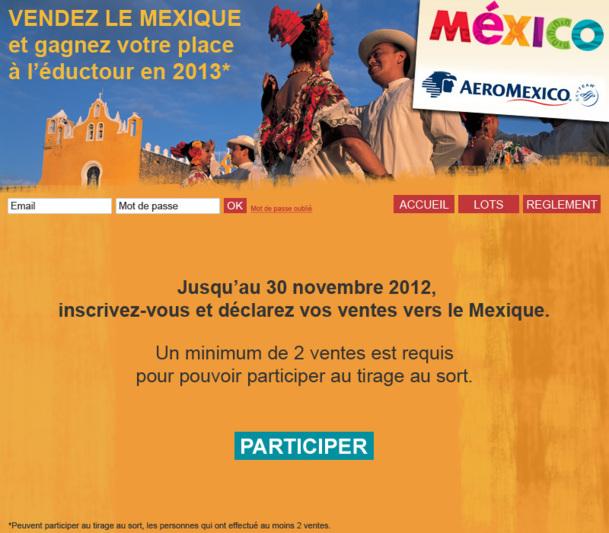 Le challenge de vente Mexique se déroulera jusqu'au 30 novembre 2012 /Photo DR