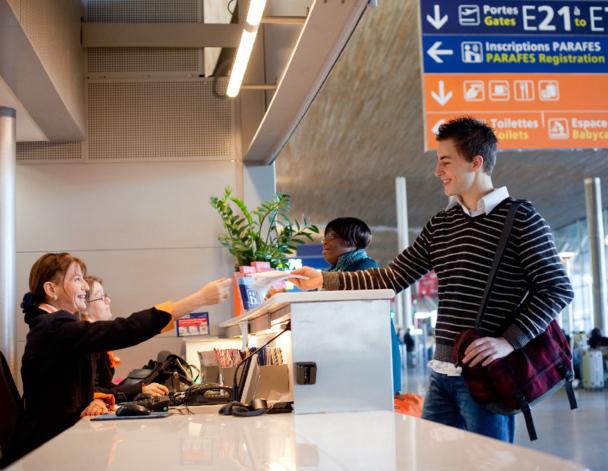 Le nouveau système d'enregistrement sera progressivement étendu à l'ensemble des clients de British Airways avant la fin de l'an prochain / Photo Aéroports de Paris - LAFONTAN, Mikaël et SEIGNETTE, Olivier