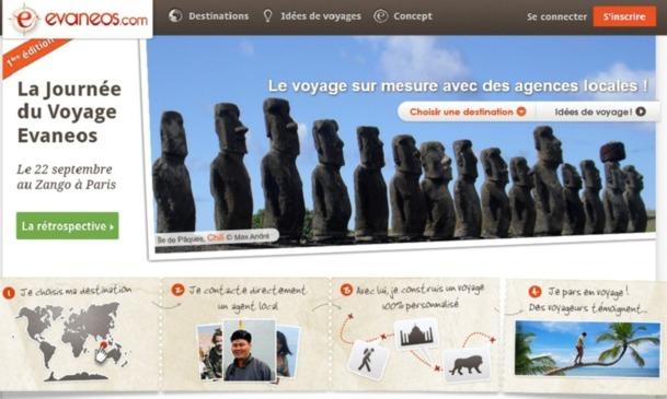 Evaneos avait invité 12 réceptifs pour son premier workshop à Paris le 22 septembre 2012 - Capture d'écran