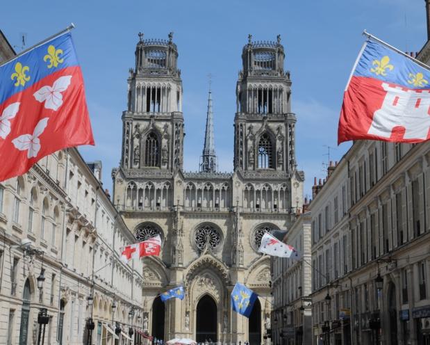 La cathédrale d'Orléans durant les fêtes dédiées à Jeanne d'Arc - DR : Thorsten Brônne, CRT Centre Val de Loire