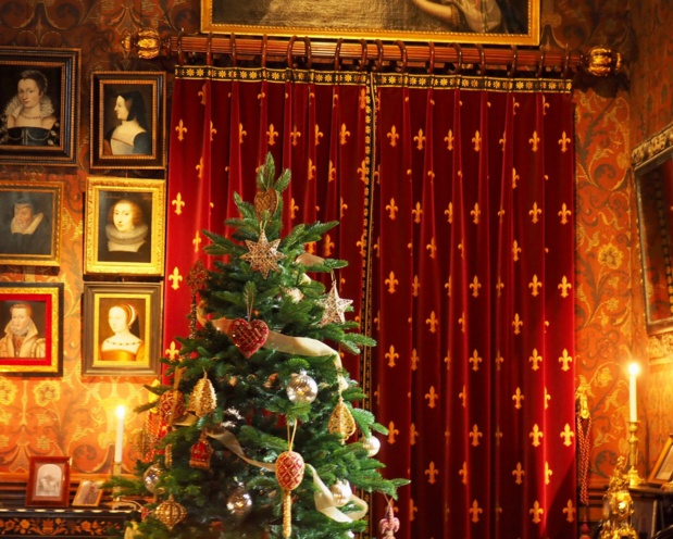 Décor de Noël au château d'Azay-le-Rideau - DR : Yuxin Jiang, CRT Centre Val de Loire