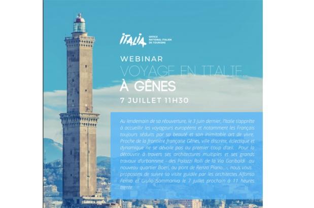 Une visite guidée de Gênes par les architectes Alfonso Femia et Giulio Sommariva est proposée aux agents de voyages - Crédit photo : ENIT