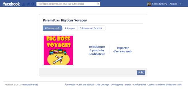 Le logo sera visible dans toutes vos publications, prenez soin de le redimensionner au format Facebook. (Pour agrandir l'image cliquez dessus)