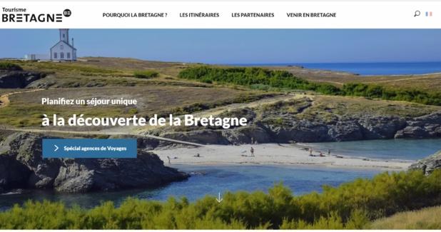 Un nouveau site web accessible à l'adresse Voyagistes.tourismebretagne.com est dédié aux professionnels du tourisme - DR Capture écran