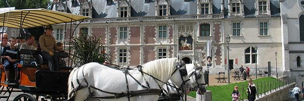Château Royal de Blois et attelage - DR OT Blois Chambord