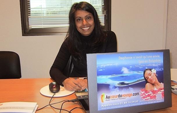 Rina Moonesawmy, la créatrice de l'agence Au coeur du voyage, spécialisée sur l'Océan Indien et Polynésie. DR - LAC