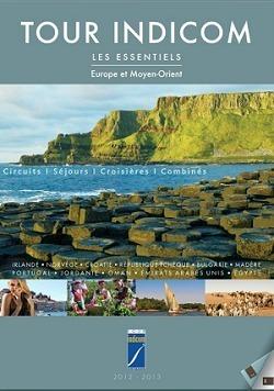 La brochure 2012/2013 de Tour Indicom Voyages est actuellement distribuée en agences de voyages - Capture d'écran