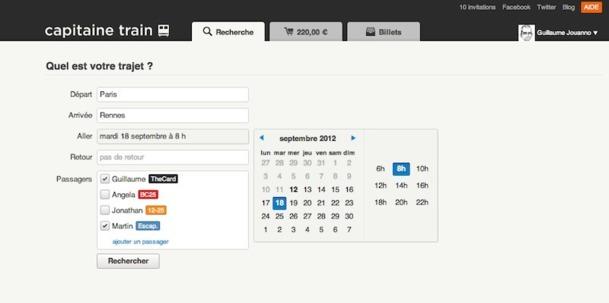 Une interface simplifiée pour une vente ultra-rapide : voici la promesse du site Capitaine Train. DR