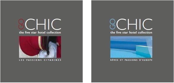 Les 2 brochures GoChic recense chacune près de 70 établissements en Europe et dans des grandes villes dans le monde - DR
