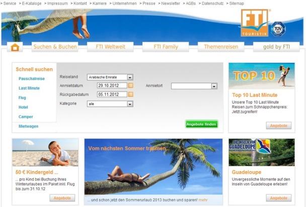 Le groupe allemand FTI deviendra propriétaire à 100 % de Voyages Lesage / Starter le 1er novembre 2012 - Capture d'écran