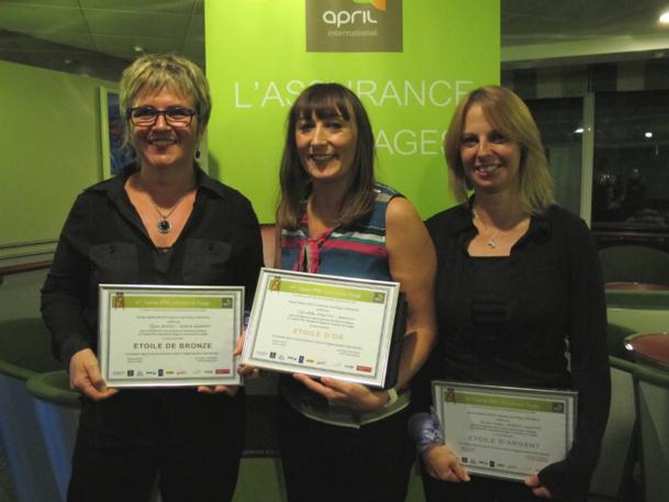 De g. à dr : Sylvie Basso, Christelle Vidotto et Muriel Vidal sont arrivées sur le podium de ce 4e Trophée d'April - DR : A.B.