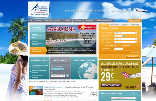 Ce nouveau site constitue à la fois un support de promotion et de distribution des voyages loisirs et des billets d'avion au départ de Strasbourg - DR