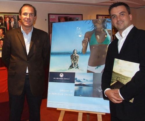 Rémi Sabarros, directeur du bureau français de  Beachcomber Hotels, et Mikäel Luron, marketing manager du groupe