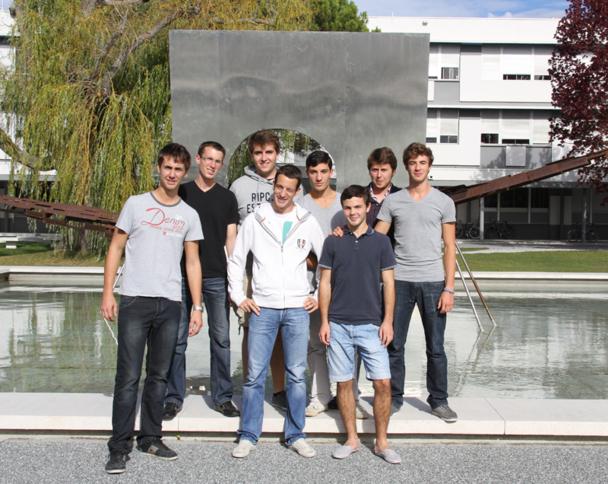 Arthur, Nelson, Pierre, Jules, Nicolas, Victorien, Arthur et Quentin sont arrivés à l'ENAC le 30 août dernier… / photo DR