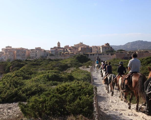 Au programme d'un incentive, balade à cheval au coeur de l'ïle de Beauté. Sylvain Alessandri.