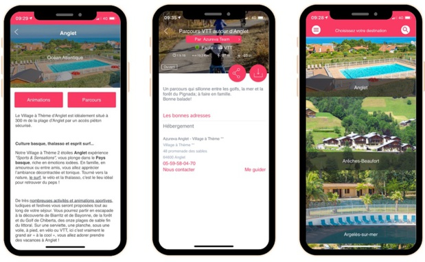 L'application développée par Mhikes est disponible dans les 47 établissements Azureva - Crédit photo : Azureva