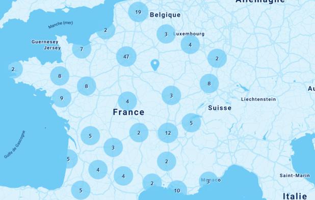 L'implantation territoriale des agences de voyages TUI France