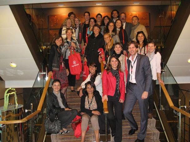 30 agents de voyages à bord du MS Fram - DR : Hurtigruten