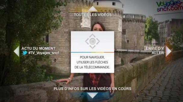 La première chaîne de TV connectée de Voyages-sncf.com : une nouvelle façon de générer des envies de voyages. DR