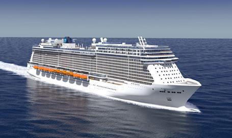 """Le futur """"Breakaway Plus"""" d'une capacité de 4200 passagers / Crédits Photo Echos du Large / Norwegian Cruise Line"""