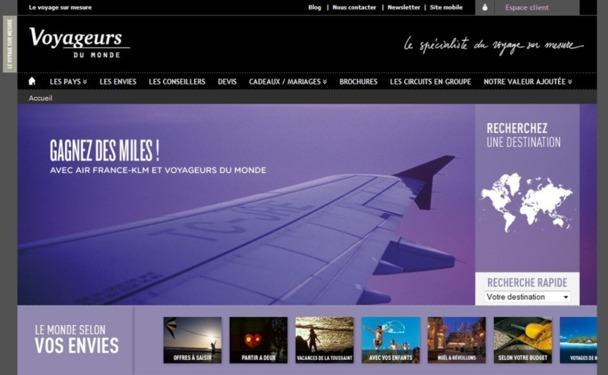 L'ensemble du budget communication de Voyageurs du Monde est donc désormais dédié à la distribution en ligne - Capture d'écran
