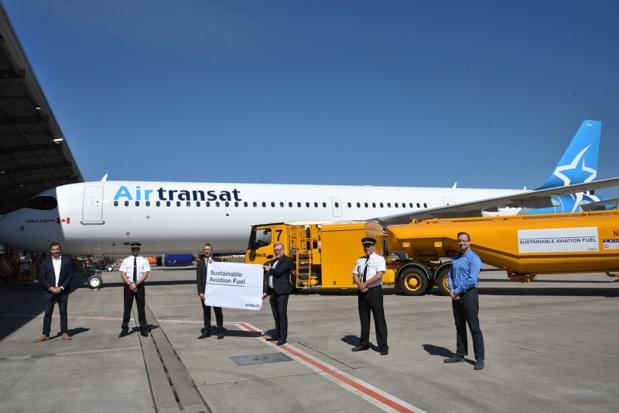 Air Transat utilise un mélange kérosène contenant 10 % de carburant d'aviation durable (SAF) - Crédit photo : Air Transat