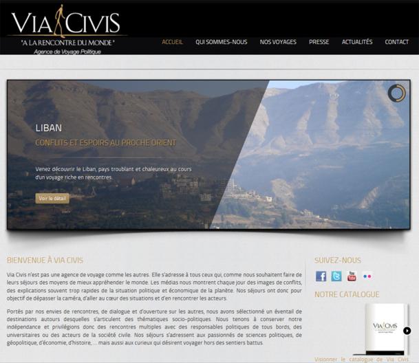 Via Civis, « la route citoyenne » en latin, est un TO qui propose du voyage sur mesure autour des grandes questions politiques actuelles - Photo capture d'écran
