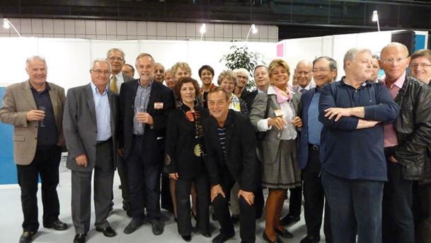 Une petite délégation des seniors du tourisme a rendu visite au MAP Pro, Porte de Versailles à Paris, autour d'Arlette Alphaize Furet, directrice du salon - DR : M.S.