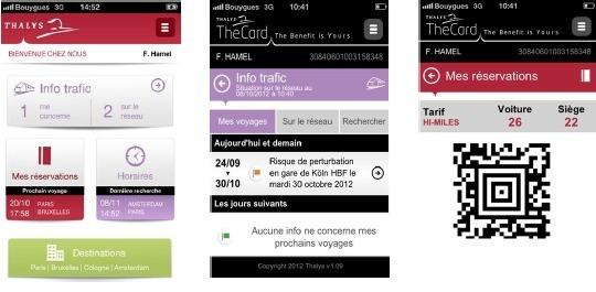 La nouvelle application mobile de Thalys est disponible gratuitement sur Androïd et iPhone - DR