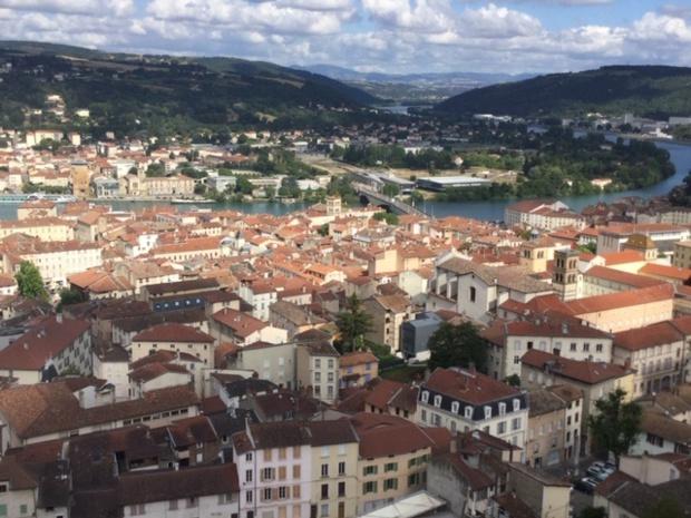 Vienne est un musée en plein air au bord du Rhône. Ici, vue du belvédère - DR : J.-P.C.