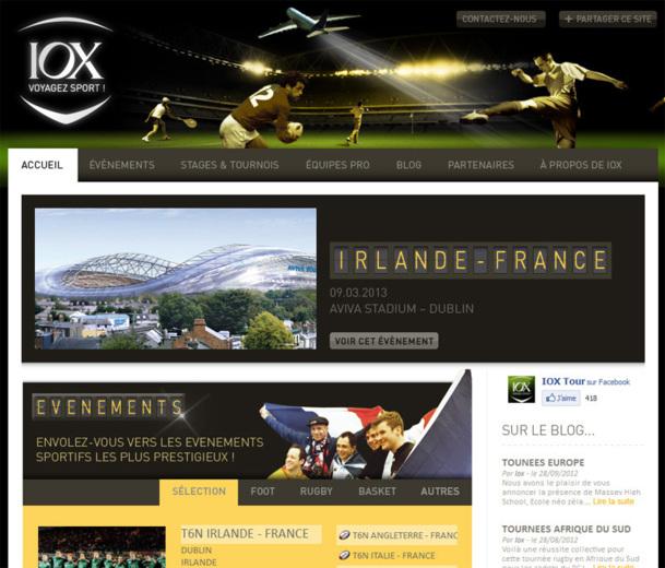 IOX Tour va lancer un site marchand d'ici le printemps 2013 - Photo capture écran