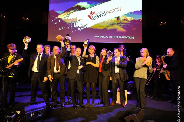 Le maître de cérémonie en a profité pour annoncer en présence du Président de Météo France, Michel Assouline, la création de Ski Monde, une association internationale des stations de ski - Photo DR