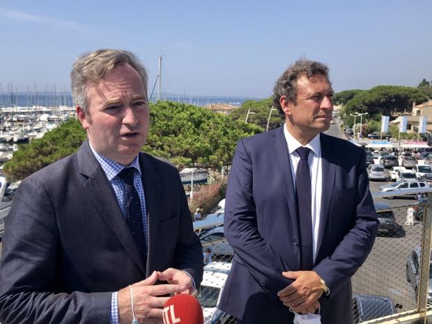 J.-B. Lemoyne et François de Canson, président du CRT région SUD et maire de la Londe les Maures /crédit photo JDL
