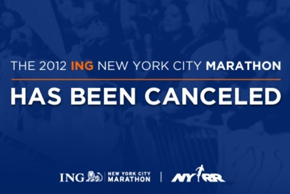 Le marathon de New York a été annulé à la dernière minute suite au passage de l'ouragan Sandy. - Photo DR