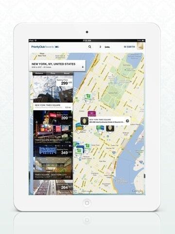 IHG lance une application iPad pour continuer à développer ses réservations mobiles - Capture d'écran