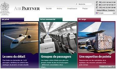 Pour appuyer le renouveau de son identité visuelle, le groupe Air Partner lance une nouvelle version de son site Internet - Capture d'écran