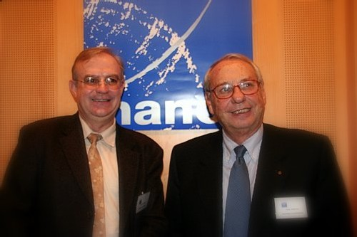Jean Korcia, président du Réseau (à gauche) et Francis Gallo (Président de la Commission Transport), sont des hommes heureux...