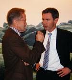L'ambassadeur d'Islande en France et Helgi Mar Bjorvinsson, directeur d'Icelandair France en grande conversation.