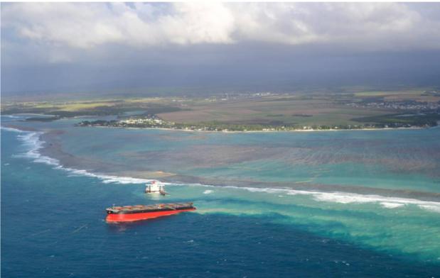 A l'avenir il faudrait  intervenir rapidement dans des situations de 'trajectoire de collision' comme celle sur laquelle le Wakashio était lancée depuis plusieurs jours avant le naufrage /crédit OT Maurice
